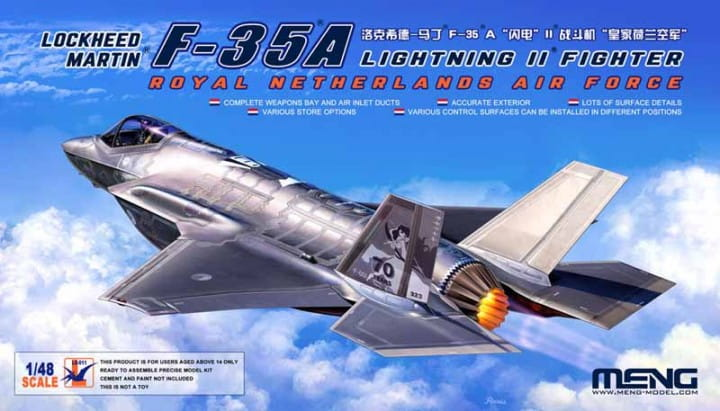 Lockheed Martin F-35A Lightning II Fighter Royal Netherland AirForce / 1:48