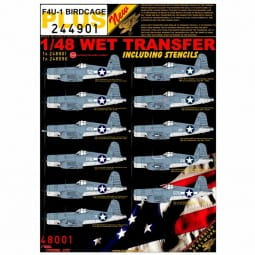 Wet Transfers: F4U-1 BIRDCAGE / 1:48