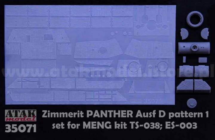 ZIMMERIT PANTHER D pattern 1 - Meng - / 1:35