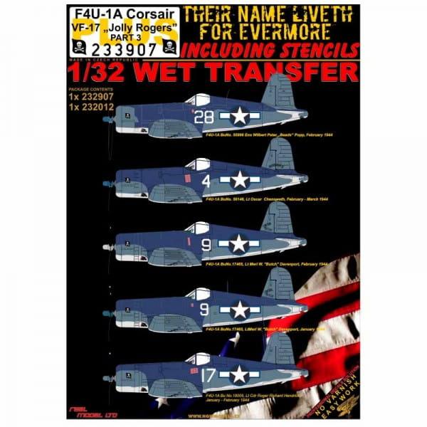 WET TRANSFER: F4U-1A Corsair VF-17