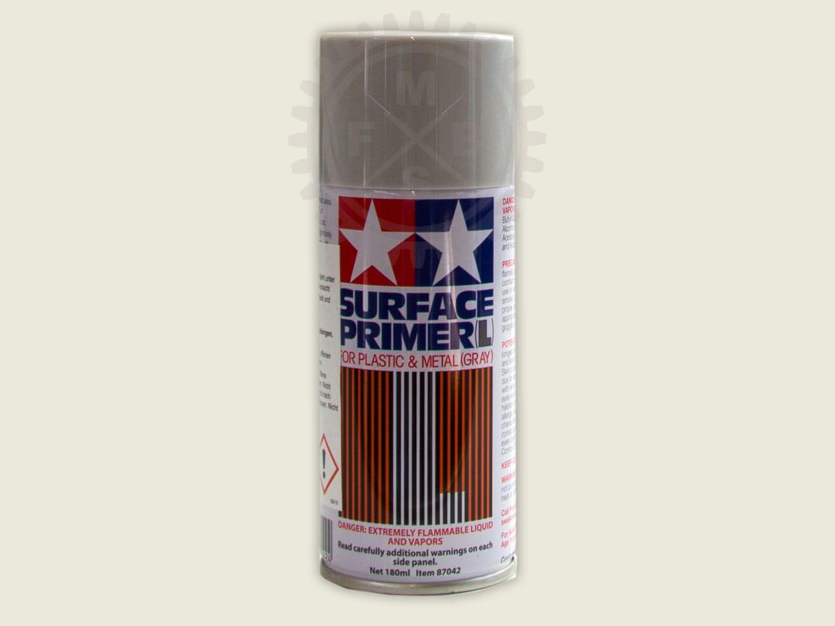 grundierung spray grau (180ml) - plastik & metall - tamiya - 87042