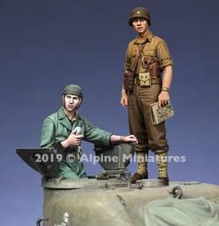 US Tank Commander Summer Set (2 figures) / 1:35