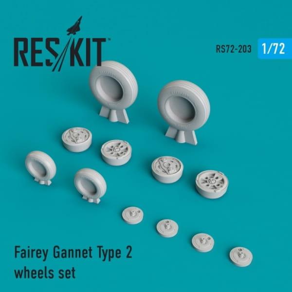 Fairey Gannet Type 2 wheels set / 1:72