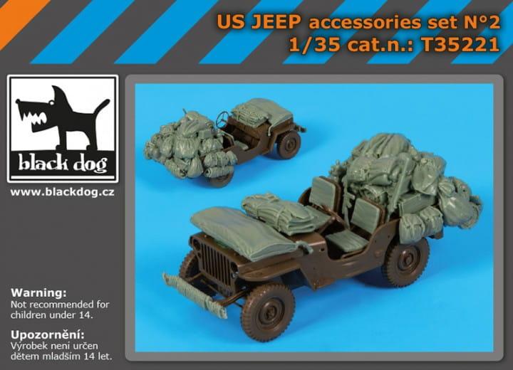 Black Dog US Jeep accessories set - Tamiya - / 1:35