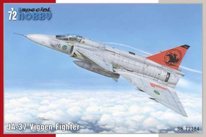 JA-37 Viggen Fighter / 1:72