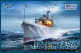 British G-class destroyer HMS Glowworm 1938 / 1:700