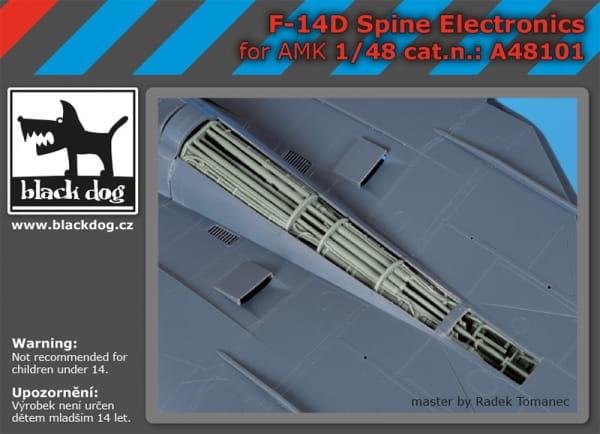 F-14 D spine electronics - AMK - / 1:48