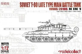 Soviet T-80 late type main battle tank 1990s-2010s N in 1 / 1:72