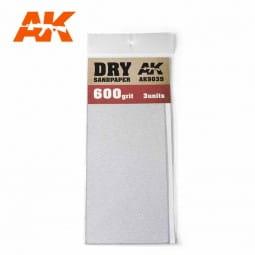 Dry Sandpaper 600 Grit. 3 units