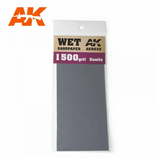 Wet Sandpaper 1500 Grit. 3 units