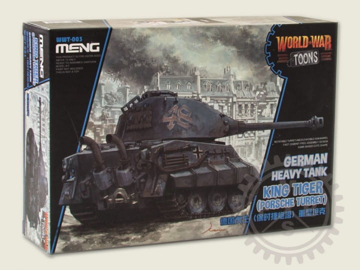 Meng Models World War Toons: German Heavy Tank King Tiger (Porsche Turret)