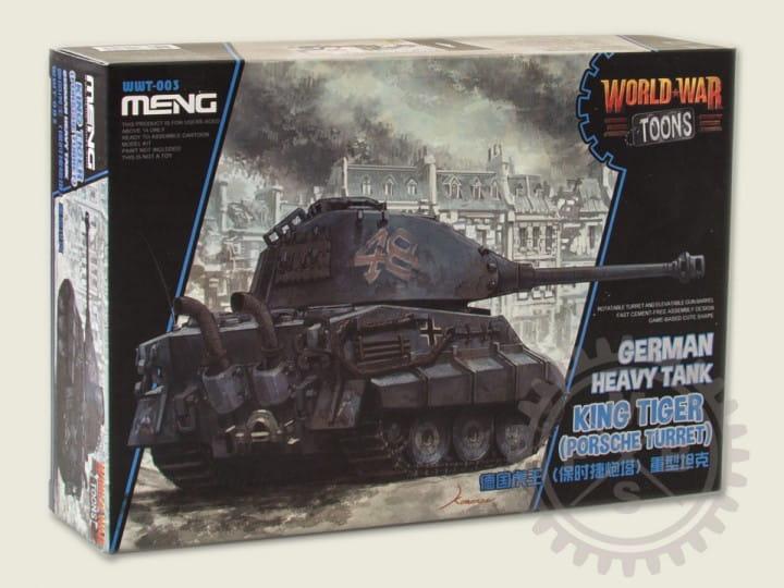 Meng Models World War Toons: German Heavy Tank King Tiger (Porsche Turret)