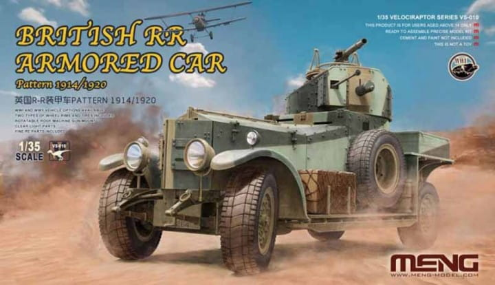 Meng Models British Rolls-Royce Armoured Car - Pattern 1914/1920 / 1:35