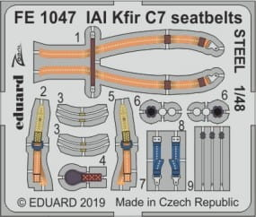 IAI Kfir C7 seatbelts STEEL - AMK - 1/48