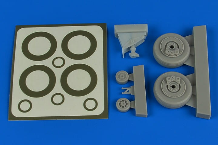 A-1H Skyraider wheels & paint masks - Tamiya - / 1:48