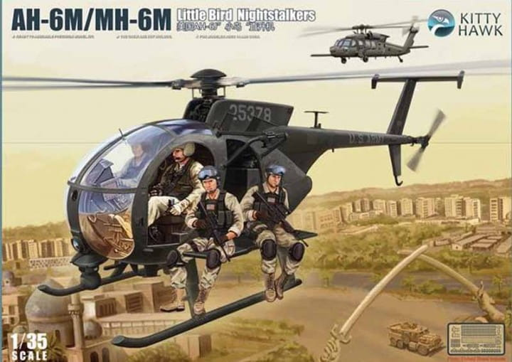 AH-6M, MH-6M little bird Nightstalker (with 6 resin figures) / 1:35