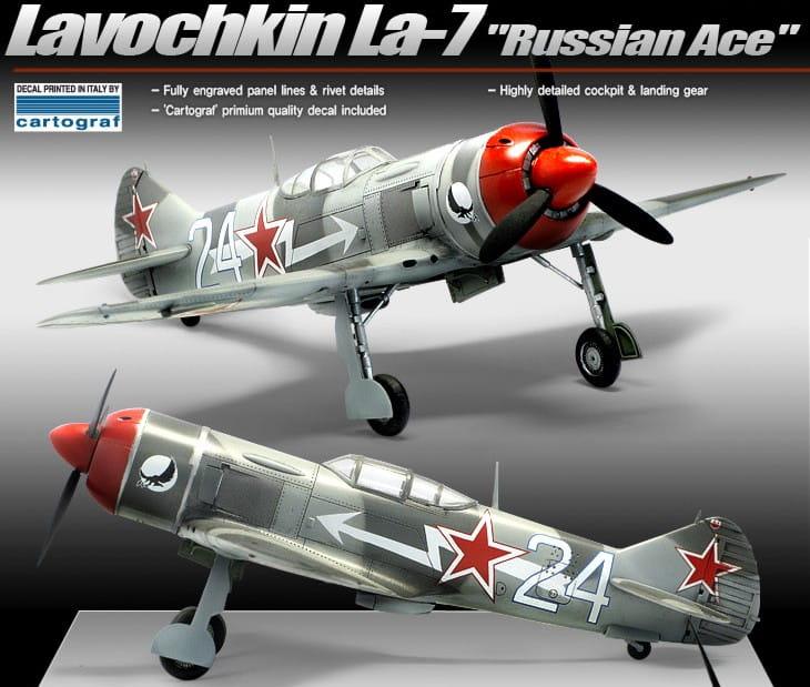 Academy 1:48 Lavochkin LA-7 Russian Ace MODEL KIT  ACA12304