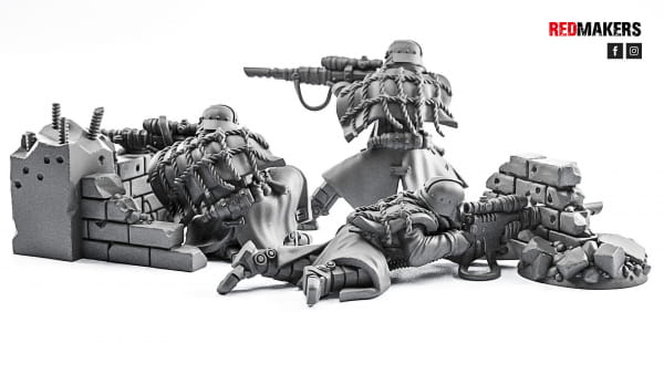 Death Squad - Snipers of the Imperial Force (3 Figures)
