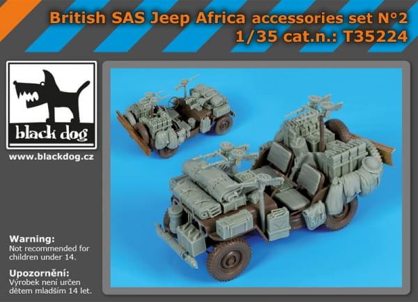 British SAS jeep Africa accessories set - Tamiya - / 1:35