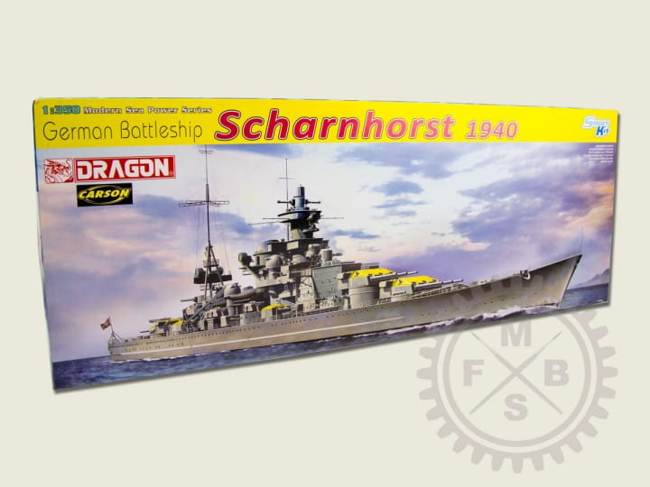 German Battleship Scharnhorst 1940 / 1:350