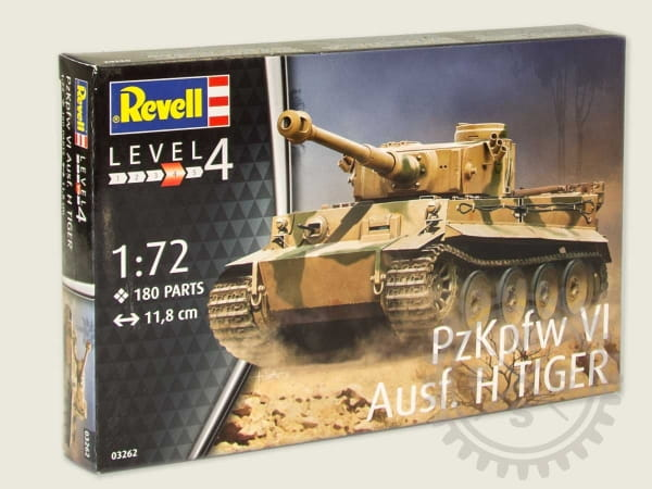 H Tiger Pzkpfw Vi Ausf Revell 03262-1//72 WWII Dt Neu