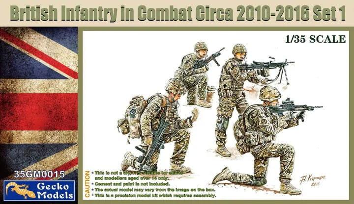 Gecko Models British Infantry in Combat 2010-12 Set 1 / 1:35