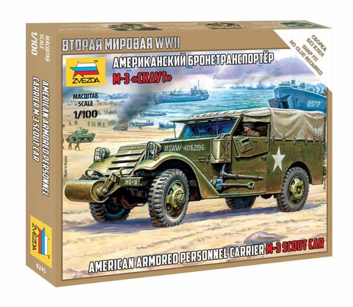 American armored personnel carrier M-3 Scout car / 1:100