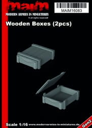 Wooden Boxes (2pcs) / 1:16