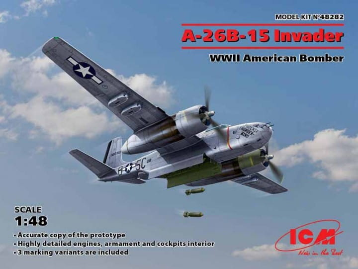 A-26B-15 Invader, WWII American Bomber / 1:48
