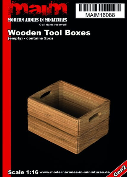 MAiM / Front46 Wooden Tool / Fruits Boxes (2pcs) / 1:16