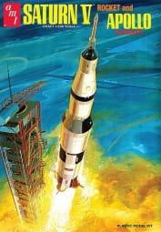 Saturn V Rakete mit Apollo-Kapsel / 1:200