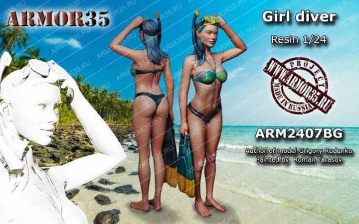 Armor35 Girl Diver / 1:24