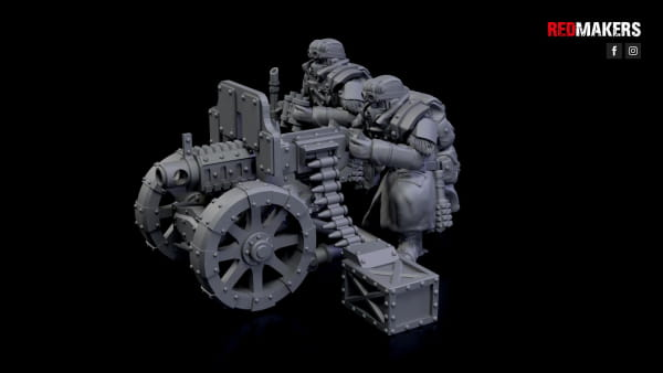 Heavy Bolter - Ice Warriors - Heavy Support Squad of the Imperial Forces