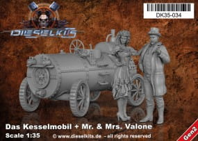 Das Kesselmobil + Mr. and Ms. Valone - Steam Punk Vehicle / 1:35