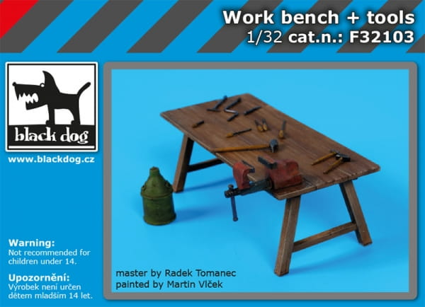 Work bench + tools / 1:32